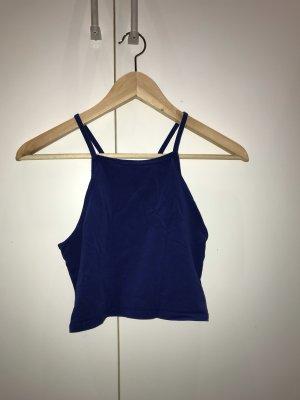 H&M Cropped Top blue-dark blue