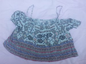 Cropped Top Carmen C&A Gr. L Viskose bunt Stretch Gr. L