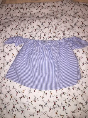 H&M Cropped Top white-azure