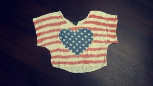 Cropped Top mit amerikanischen Muster