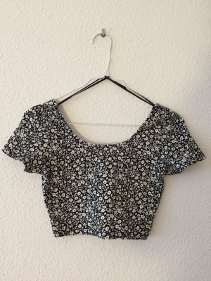 Cropped Top mit Blumenmuster