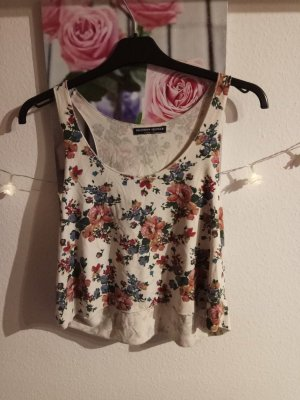 Cropped Top mit Blumenprint