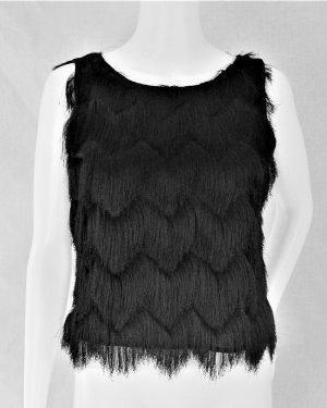 Zara Basic Cropped top zwart Polyester