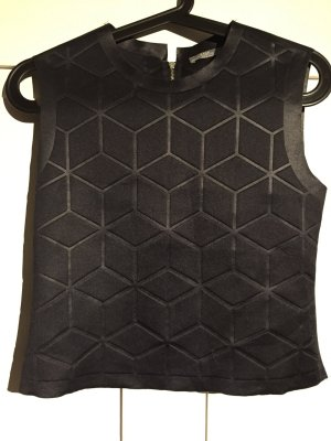 Cropped Top mit geometrischem Muster