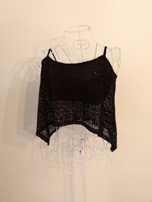 Bershka Crop-top noir
