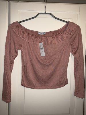 Cropped shirt roségoud