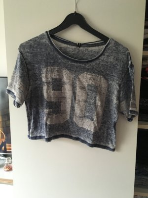 Cropped Top mit Waschung