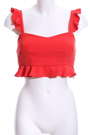 Cropped top rood Beach-look