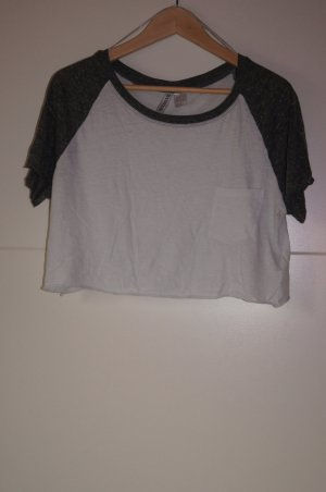 Cropped Top/ Shirt, Croptop, Cropshirt, Collegestyle, Collegeshirt, H&M