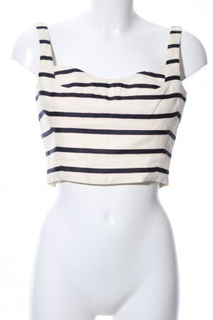 Cropped Top Streifenmuster Casual-Look