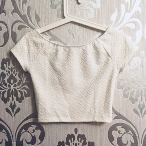 Cropped Top weiss H&M 34