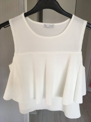 Cropped Top weiß Zara