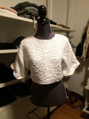 Cropped Tshirt in weiß Kastenform