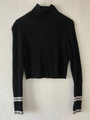 Zara Pull-over à col roulé noir-blanc