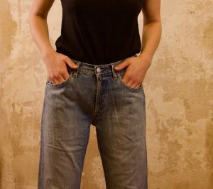 Levi's 7/8-jeans azuur Katoen