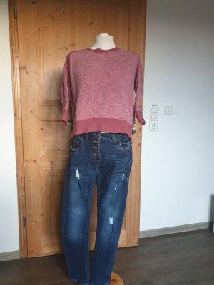 Zara Cropped Shirt bright red