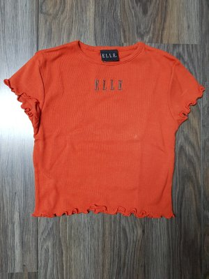Elle T-shirt court orange fluo