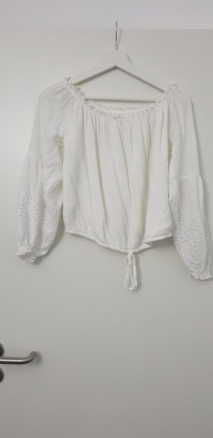 Hollister Camicia cropped bianco