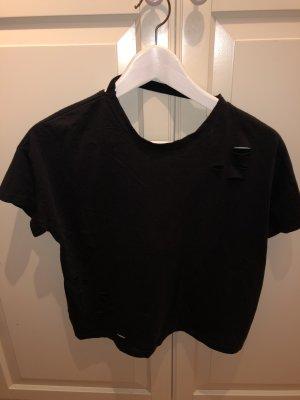 Fishbone Cropped Shirt anthracite-black