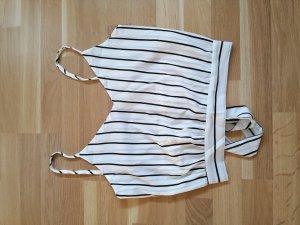 Amazone Cropped Shirt white-black