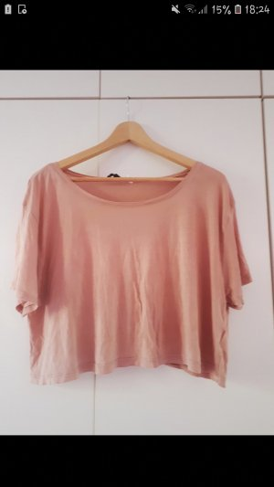 H&M Camicia cropped rosa antico-rosa pallido