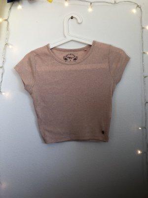 Cropped shirt roségoud-nude