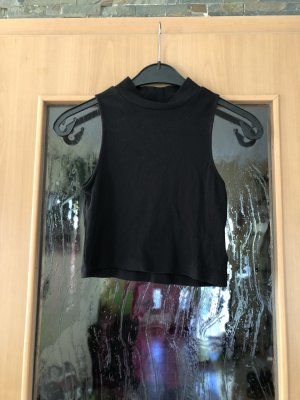 H&M Divided Top corto nero