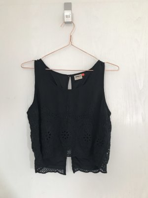 Only Cropped shirt zwart