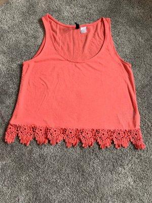 H&M Camicia cropped salmone-rosso chiaro