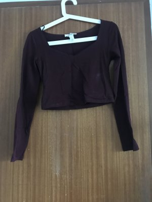 Forever 21 Cropped shirt bordeaux