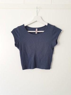 Croptop FB Sister XS blau navy Crop Top t-shirt Shirt tshirt Bluse hemd Pulli Pullover Hoodie
