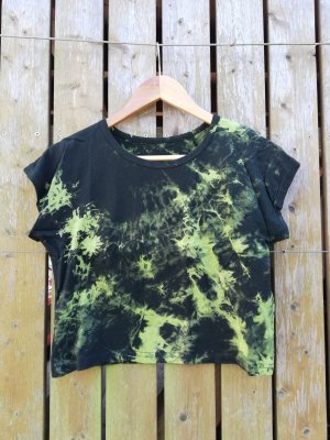 Cropped Top black-neon green