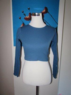 FB Sister Top recortado azul acero