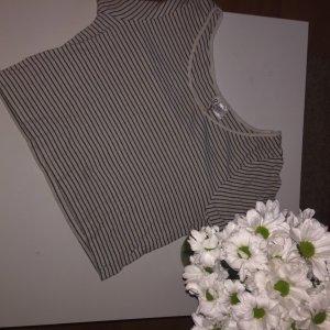 H&M Divided Cropped Shirt black-white