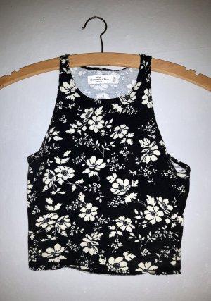 Abercrombie & Fitch Top corto nero-bianco