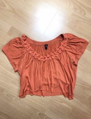 Ann Christine Cropped Shirt neon orange-orange