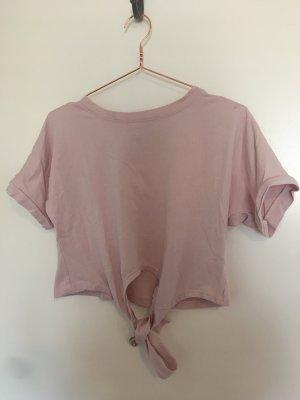Cropped shirt rosé