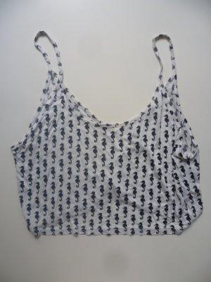Croptop mit Seepferdchen-Muster von H&M