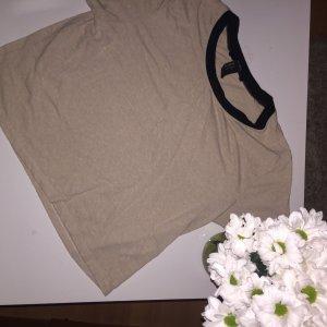 Forever 21 Cropped Shirt dusky pink-black
