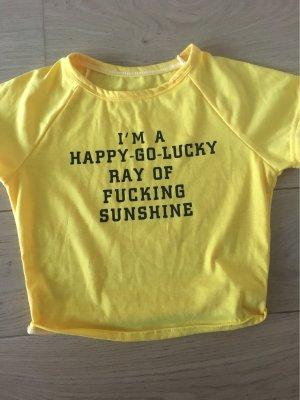 T-shirt court jaune primevère