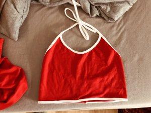 no name Ensemble en jersey blanc-rouge