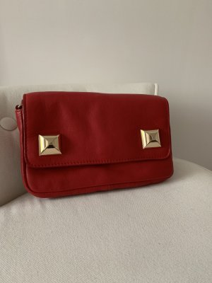 Cross body bag, rot aus Leder, wir neu!