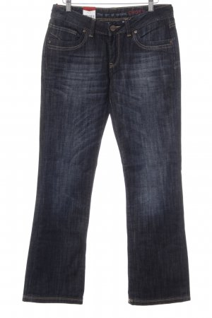 Cross Boot Cut Jeans dunkelblau Casual-Look