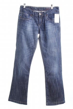 Cross Boot Cut Jeans dunkelblau-wollweiß Casual-Look