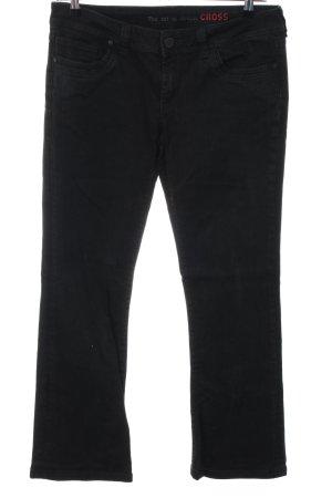Cross Boot Cut Jeans black casual look