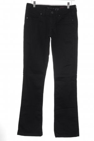 Cross Boot Cut Jeans schwarz Casual-Look