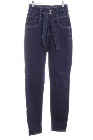 Cross Jeans a vita alta blu scuro stile casual