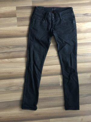 Cross Skinny Jeans black cotton