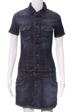 Cross Jeanskleid dunkelblau Washed-Optik