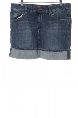Cross Jeansrock dunkelblau Washed-Optik